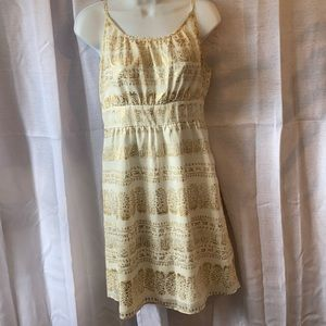 White and Gold Mark Dress Size S